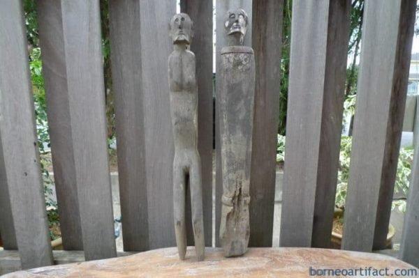 MALE&FEMALEGUARDIAN mmSTATUEDayakSculptureAntiqueFigureIRONWOOD