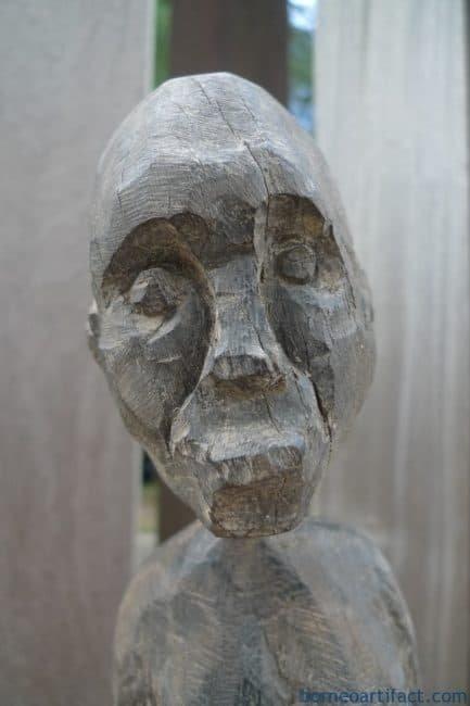 WOODARTIFACTmmDAYAKSTATUEAntiqueAuthenticAgedSculptureWoodenArt