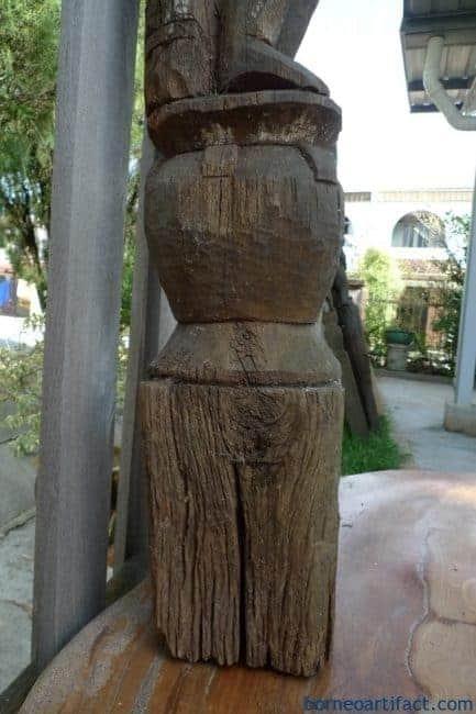 FEMALEFERTILITYGUARDIANmmPOLESTATUEAgedDayakSculptureFigureBorneo
