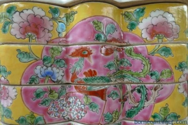 YELLOWBUTTERFLYmmNYONYAFOODCONTAINERPorcelainTrayBoxNonyaChinese