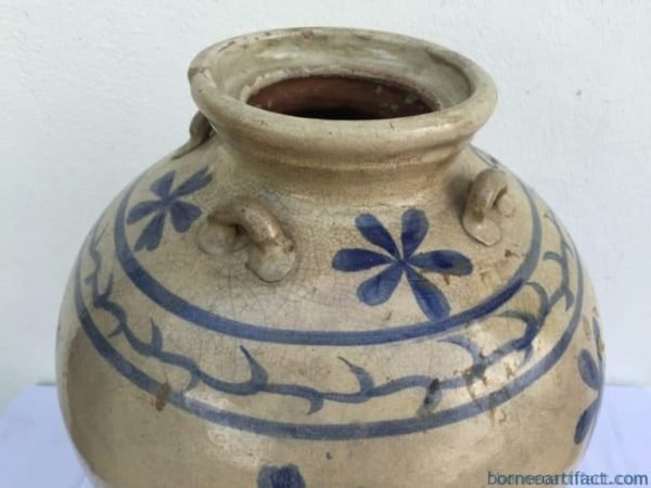 WHITEGLAZEDmm/.ANTIQUEAUTHENTICJARVasePotPotteryPorcelainChing