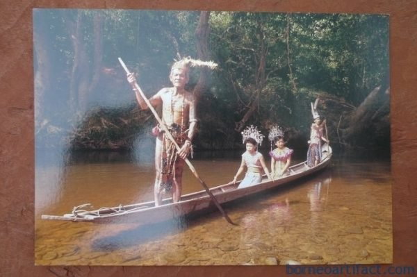 #1 FREE SHIPPING Cultural post card Iban River Journey