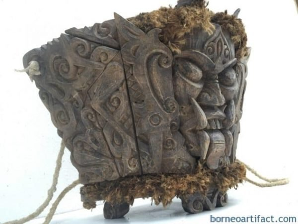 DAYAK MODANG Baby Child Carrier Backpack Sling Bag Borneo Asia Craft Artifact