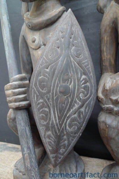 ONEPAIRNIASWARRIORPanglimaStatueSculptureImageIconFigureHome&#;Garden