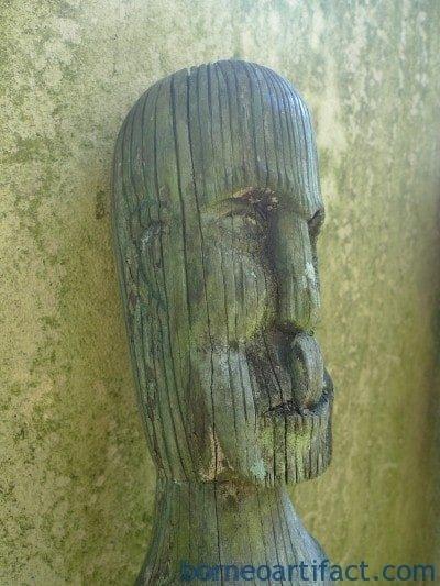 .meterMASSIVEERODED/WEATHEREDGUARDIANSTATUEDayakFigureIconSculpture