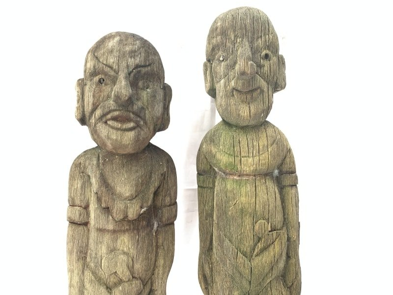 RARE ERODED GUARDIAN STATUE Dayak Kebahan Antique Artifact Figure Icon Sculpture