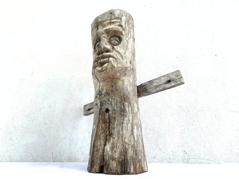 DAYAKAUTHENTICmmHOMEGUARDIANSTATUEOldFigureIconSculptureArtifact