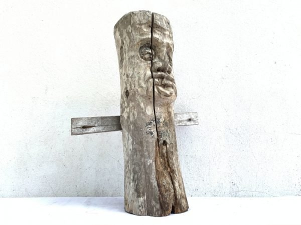 DAYAK AUTHENTIC 460mm HOME GUARDIAN cultural statue Old Figure Icon Sculpture Artifact