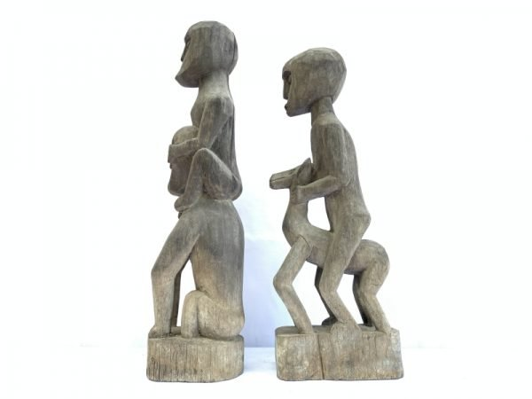 HORSE and MAN IRONWOOD 450mm PATUNG Authentic Dayak garden Statue Primitive Figure