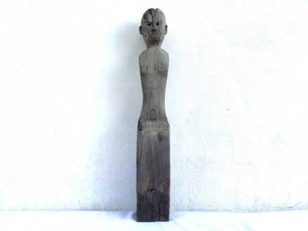 IRONWOOD DAYAK 830mm STATUE POLE Patung Dayak vintage sculpture AUTHENTIC AGED