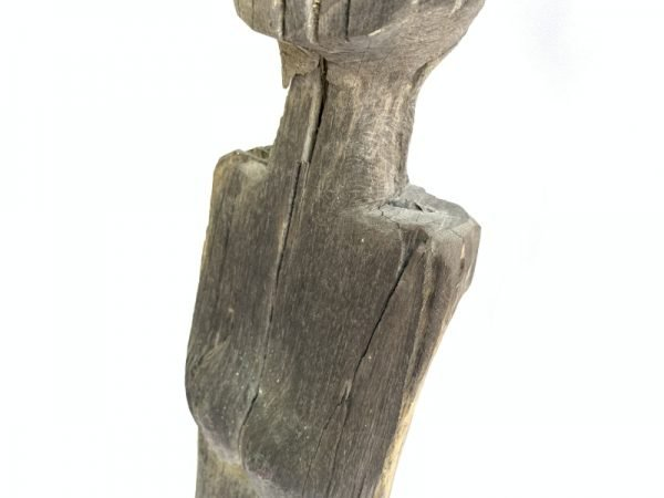 EXTREMELY AGED 850mm FEMALE WITH BREAST GUARDIAN garden sculpture Authentic Dayak Borneo