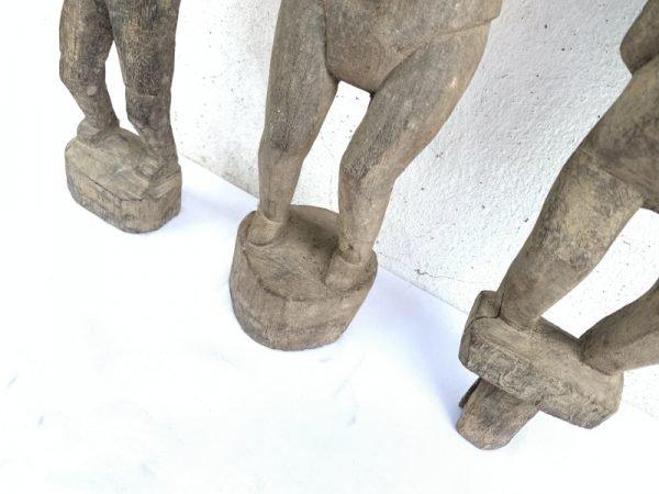 PADDY GUARDIAN 410-480mm ANTIQUE STATUE Authentic Dayak Tribal Figure Sculpture