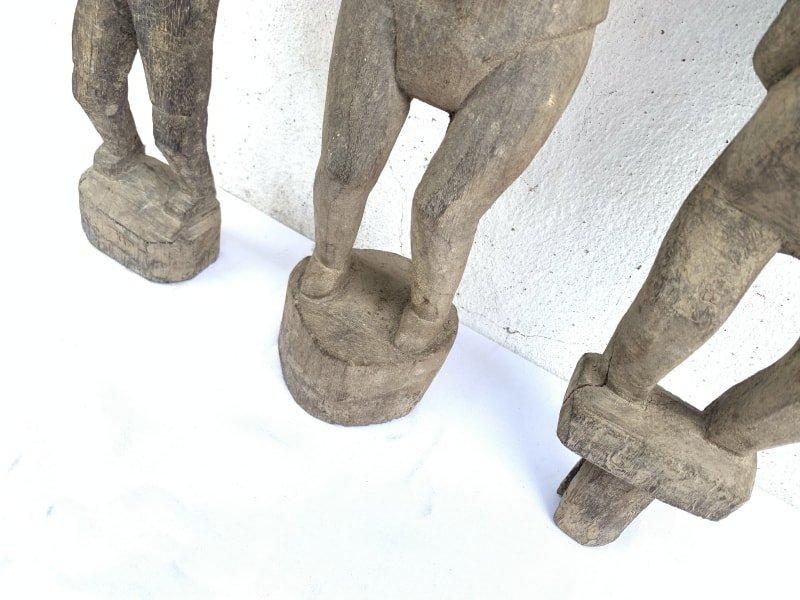 PADDYGUARDIAN mmANTIQUESTATUEAuthenticDayakTribalFigureSculpture