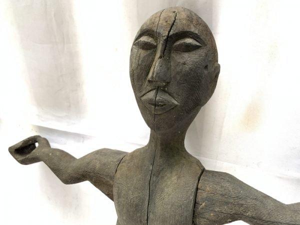 ANTIQUE DAYAK 860mm bahau sculpture Patung Dyak Primitive Figure Sculpture Borneo