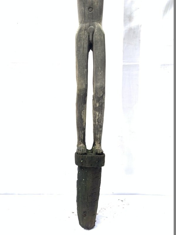 MASSIVE DAYAK FIGURE 1290mm HARDWOOD STATUE landscape Sculpture Dayak Tribal