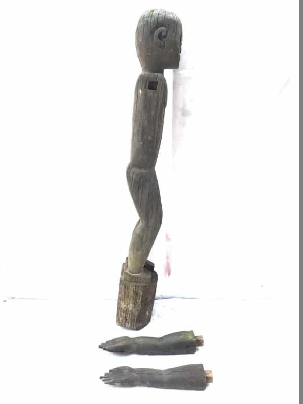 50 lb XXXL DAYAK STATUE 1240mm TALL Tribal statue Sculpture Borneo Dyak Native