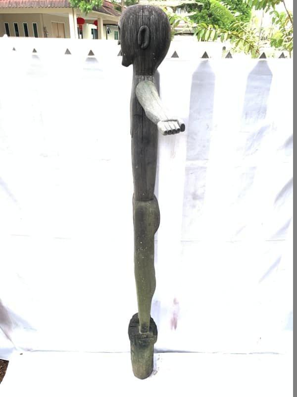 LARGE PATUNG POLISI 1570mm STATUE Dayak Tribal Figure Sculpture Authentic Borneo