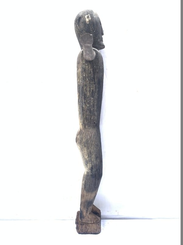 ANCESTRAL BORNEO STATUE 1000mm SCULPTURE Dayak Tribal Figure Wood AGED IRONWOOD