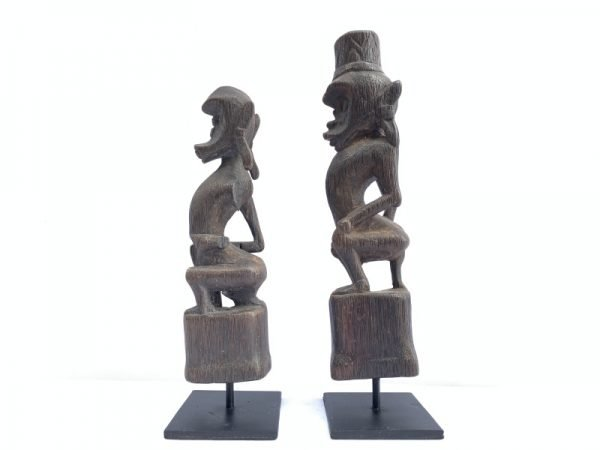 GUARDIANS OF THE AFTERWORLD 270mm Authentic DAYAK Melanau Shaman Statue FIGURE SCULPTURE