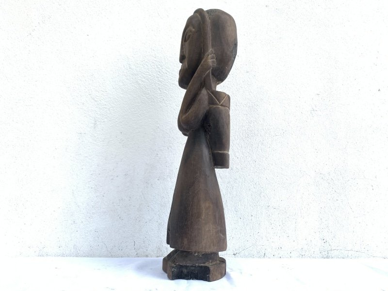 TRIBALLADY&TOTEBAGmm/.OldAuthenticSculptureStatueFigureDayak