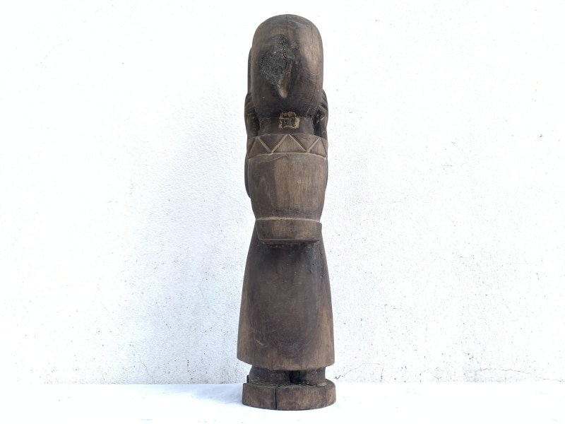 TRIBALLADY&TOTEBAGmm/.OldAuthenticSculptureStatueFigureDayak