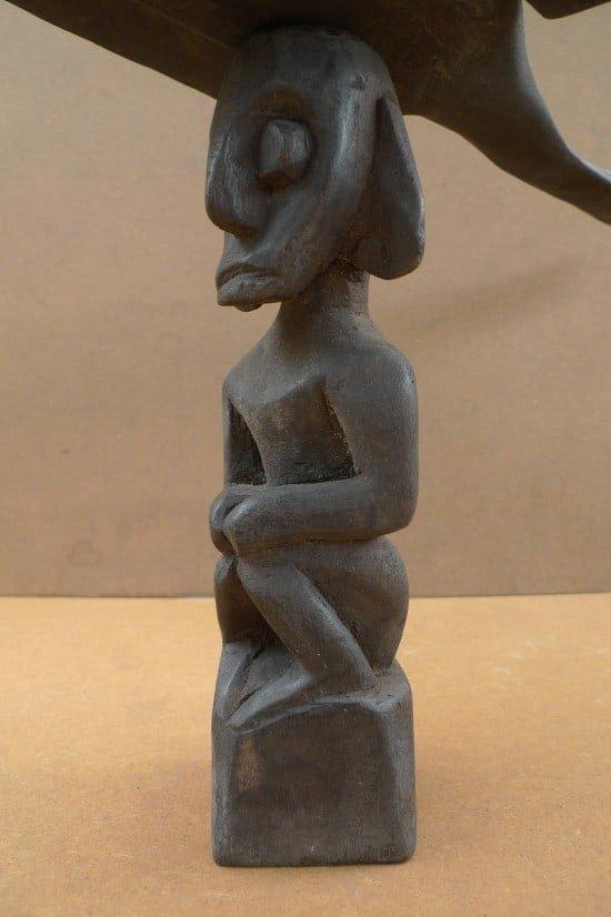 GOD OF WAR 590mm BURUNG SENGALANG Pagan Dayak Statue Figure Icon Sculpture WOOD