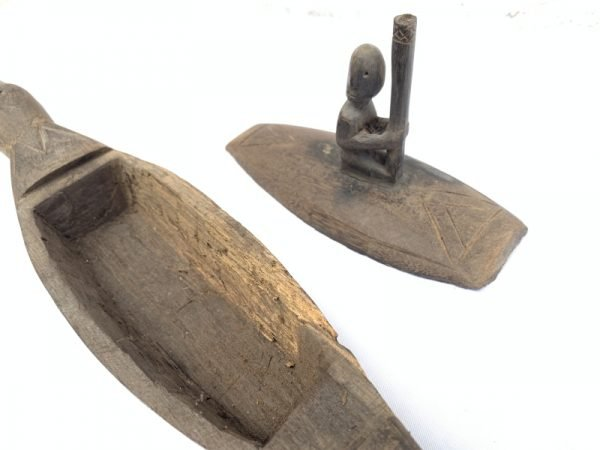 HIDDEN CHAMBER BORNEO BOAT Artifact Vessel Statue Sculpture Figure Tribal Asia