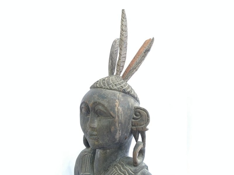 WARRIOR IMAGES Antique Dayak Statue Sculpture Icon Figure Home Bar Office Borneo