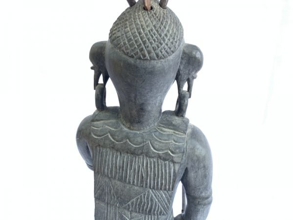 Antique Asian WARRIOR IMAGES Dayak Statue Sculpture Icon Figure Home Bar Office Borneo