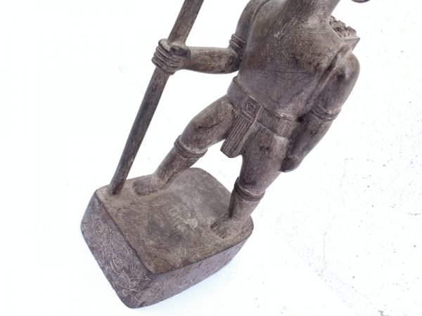 AUTHENTIC ANTIQUE Dayak Image Statue Sculpture Warrior Traditional Hunter Figure Jungle Tribe