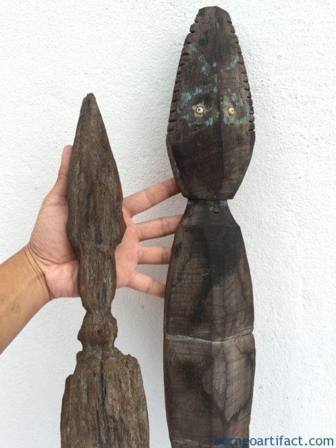 TONGGOKDAYAKmmPOLECrocodileSpiritualGuardianReptileAnimalSculptureIcon