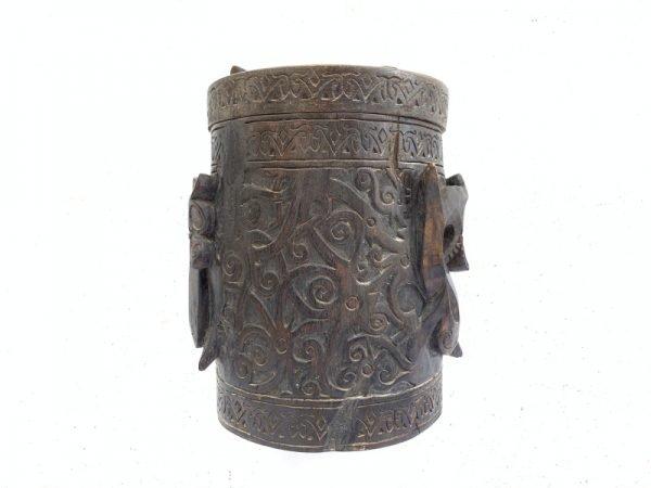 ASO NAGA RITUAL ANCESTRAL Cultural Container Lupong Medicine Box Chamber Ornament #4