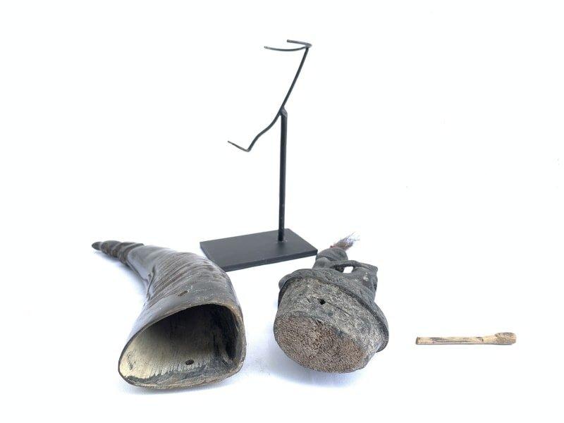 #LARGEBATAKCHAMBERmmHORNGANA GANAStatueSculptureFigureArtifactArt