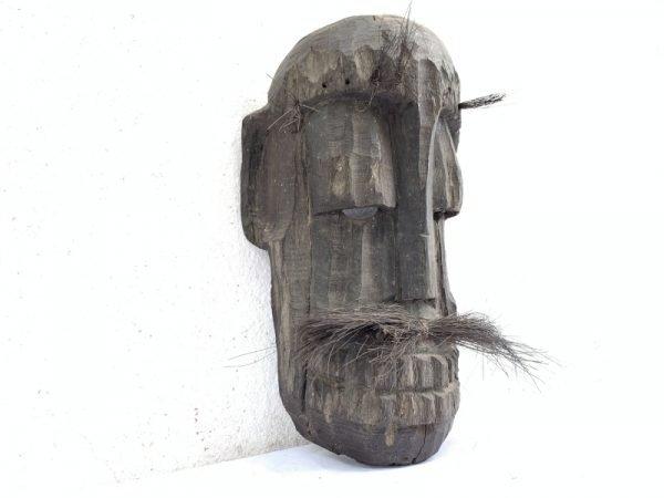 TOPENG DAYAK AHE 310mm PELAIK Native MASK Borneo Facial Face Dyak Tribe Artifact