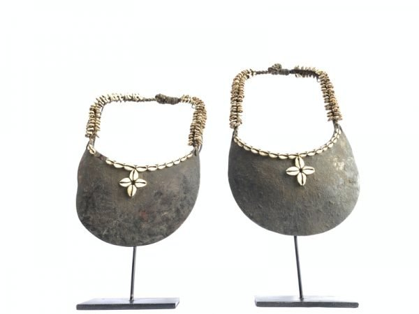 ONE PAIR (Male and Female) 380mm ON STAND Irian Papua NECKLACE JEWELRY BODY NECK