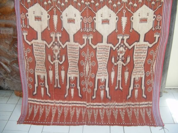 PUA KUMBU asian fabric Warrior Spirit Realm Ancestral RITUAL TEXTILE Cloth Fabric Blanket