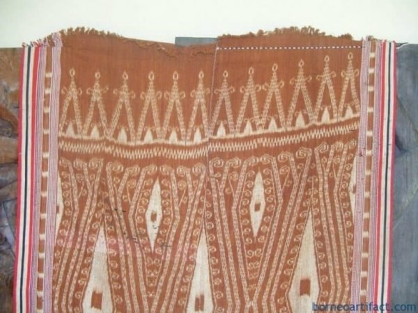 PUA KUMBU WAR SHIELD Motif ~ Ikat Bidan blanket~OLD Ancestral Ritual Cloth