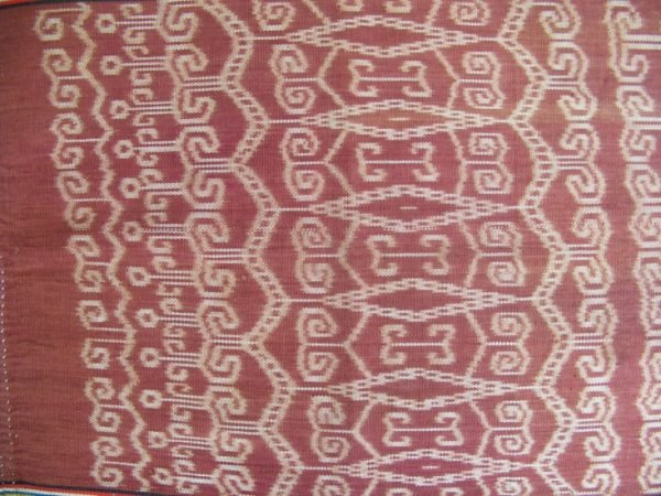 traditional outfit THRONE OF PETARA LEECH Ikat Bidang Ritual SKIRT SARONG LADIES GARMENT #86