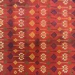 COLORFUL ROSETTE (21.3″ x 2 WAIST) Tribal Wear Red Skirt Dress TEXTILE DYAK DAYAK GARMENT #316