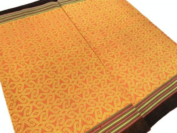 CLOUD PATTERN (22.4″ x 2 WAIST) BRIGHT SKIRT DRESS TEXTILE DAYAK SARONG OLD #317