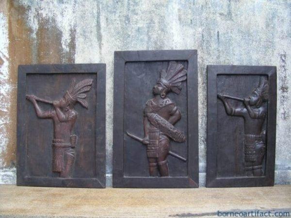 LOSTSCENERYOFBORNEODayakSculpturePaintingHeadhunterHeadHuntingTribe