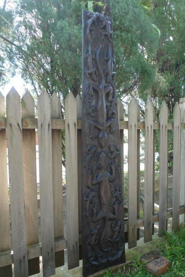 TRIBALMOTIFCROCODILEPANEL.&#;.WoodCarvingWallArtSculpturePainting