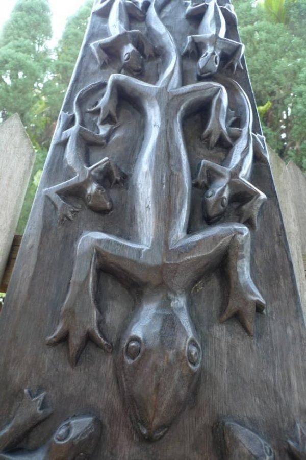 TRIBALMOTIFCROCODILEPANEL.&#;.WoodCarvingWallArtSculpturePainting