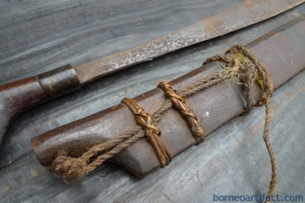 DAYAK WEAPON SWORD Parang Jimpul Old collection Borneo Headhunter Knife Blade