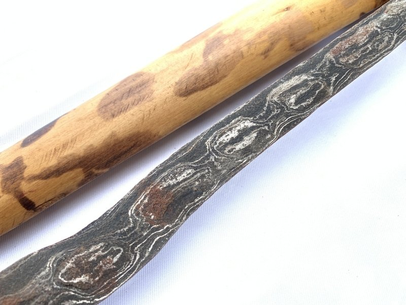 SPOTTED LEOPARD SHEATH Keris Java Balinese Weapon Knife Blade Dagger Sword Arms