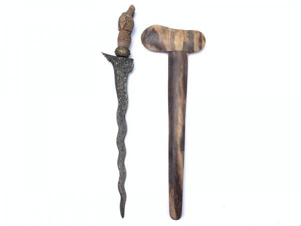 OLD KERIS GARUDA BALI Balinese Weapon Knife Blade Dagger Sword Arms Hindu God