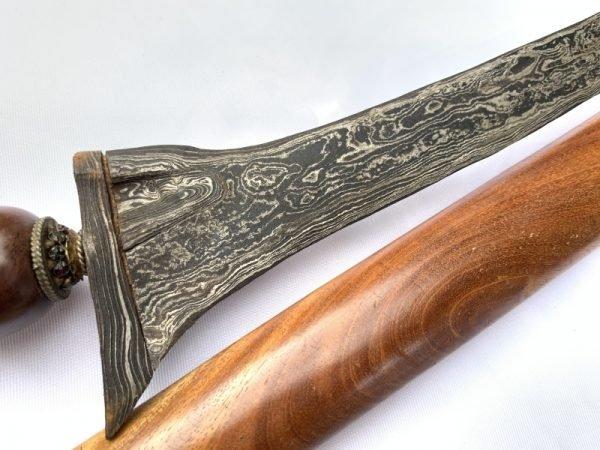 STRAIGHT BLADE 440mm PALEMBANG KERIS Weapon Knife Dagger Sword Kris Indonesia