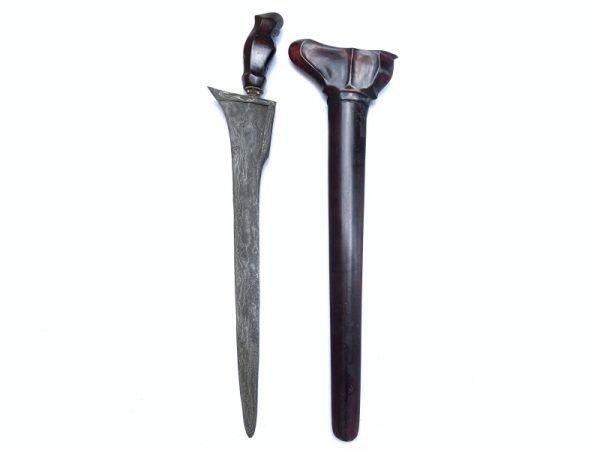 STRAIGHT BLADE 520mm KRIS SANDANG WALIKAT Keris Knife Sword Dagger Samurai Arms