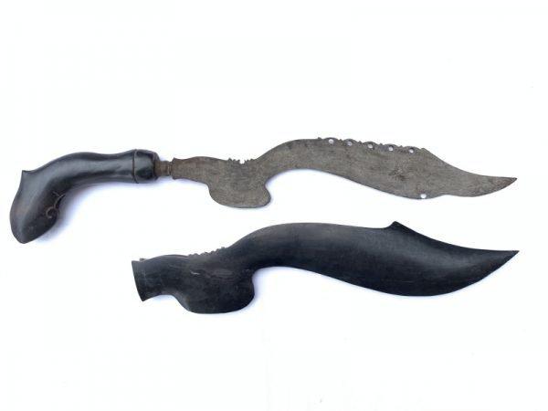 2.) OLD BLADE 520mm KUJANG JAWA Knife Weapon Dagger Sword Parang Keris Samurai