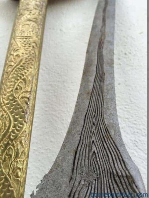 (KERIS PANCURAN EMAS) AGED STRAIGHT BLADE Knife Weapon Sword Dagger Kriss Kris